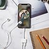Gigacord IPhone 2in1 Lightning to 3.5mm Headphone Jack Charger Splitter, White