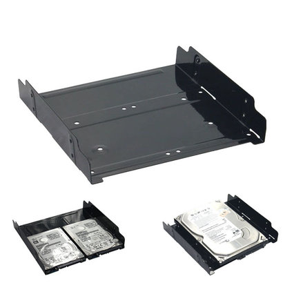 "Cryo-PC Dual 2.5"" or 3.5"" to 5.25"" Internal HDD SSD Adapter Mounting Kit (2pc)"