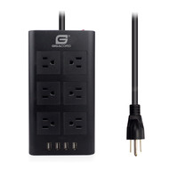 Gigacord Gigacord 6-Outlet, 4 USB 2.4A 900j Surge Power Strip, 6.5ft Cord,Black