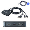 Oyel Oyel 2-Port HDMI USB KVM Switch, 4K Plastic with Built in Cables