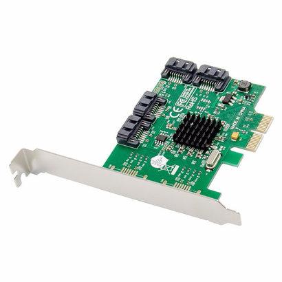 Cryo-PC Cryo-PC 4 Port SATA 6Gbps PCIe 2.0 x1 RAID 0 1 10 Controller Card