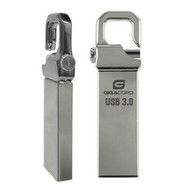 Gigacord Gigacord USB 3.0 Flash Drive, Locking Latch Design, Silver (Choose Size)