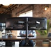 """Dual LCD Monitor Desk Mount Stand Heavy Duty Fully Adjustable fits 2 /Two Screens up to 27"""""""