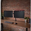 Dual LCD Monitor Desk Mount Stand Heavy Duty Fully Adjustable fits 2 /Two Screens up to 27""
