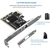 Cryo-PC Cryo-PC 2.5GBase-T PCIe Network Adapter with 1 Port, 2500/1000/100Mbps PCI Express Gigabit Ethernet Card RJ45 LAN Controller, Low Profile Bracket Incl.