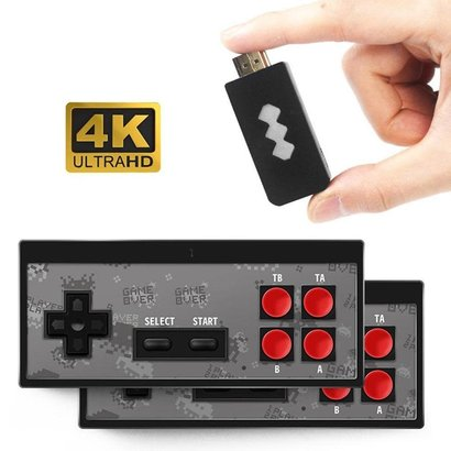 4K HD Video Game Console Built in 600 Classic Games Mini Retro Console Wireless Controller Output Dual Players