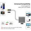 Gigacord Gigacord USB 3.1c Type-c Male to DVI Female Video Adapter Macbook, Silver