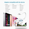 Gigacord iPhone 3in1 Lightning to Dual 3.5mm Headphone Jack Charger Splitter & Charging port, White