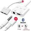 Gigacord iPhone Lightning to 3.5mm Headphone Jack & Lightning Port, Volume Control