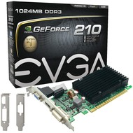 EVGA EVGA GeForce 210 Passive 1024 MB DDR3 PCI Express 2.0 DVI/HDMI/VGA Graphics Card, 01G-P3-1313-KR