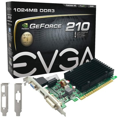 EVGA EVGA GeForce 210 Passive 1024 MB DDR3 PCI Express 2.0 DVI/HDMI/VGA Graphics Card, 01G-P3-1313-KR