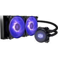 Cooler Master Cooler Master MasterLiquid ML240L RGB Close-Loop CPU Liquid Cooler, 240mm Radiator, Dual Chamber RGB Pump, Dual MF120R RGB Fans w/ RGB Lighting Sync for AMD Ryzen/Intel 1200, 1151