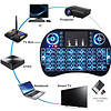 Cryo-PC Cryo-PC Backlit (Blue) Mini Wireless Keyboard With Touchpad Mouse Combo and Multimedia Keys for Android TV HTPC Smart Phone Tablet Mac Linux Windows OS, 10M Range