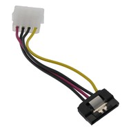 6-inch 4 Pin Molex to SATA HD Power Cable Adapter