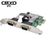 Cryo-PC Cryo-PC PCIe 2-Port 2 Serial Card DB9M Controller Card