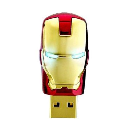 Gigacord Gigacord 8GB USB 2.0 Flash Drive, Avengers Ironman Gold/Red Mask
