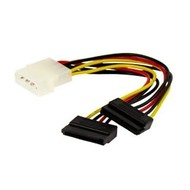 "6"" 4 Pin Molex to Dual SATA Power Y-Cable Adapter- 6 Inches"