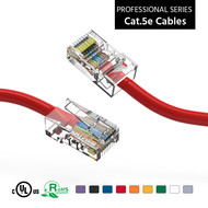 30 Foot Cat5e UTP Ethernet Network Non Booted Cable 24AWG Pure Copper, Red Cat-5e (30 Ft.)