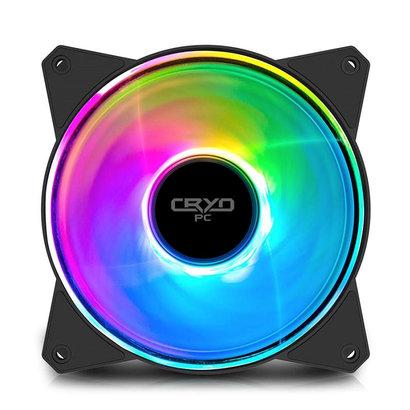 Cryo-PC Cryo-PC Single Halo Ring ARGB RGB 120x25mm Fan DC 12V Case Fan