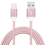 1M USB iPhone Braided Charging/Sync Cable, Rose 3Ft