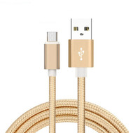 1M USB Micro Braided Charging/Sync Cable, Gold 3Ft