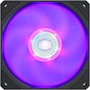Coolermaster Cooler Master SickleFlow 120 V2 RGB 120mm Square Frame Fan with Customizable LEDs, Air Balance Curve Blade Design, Sealed Bearing, PWM Control for Computer Case & Liquid Radiator