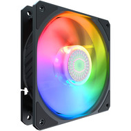 Coolermaster Cooler Master SickleFlow 120 V2 ARGB 120mm Square Frame Fan, Individually Customizable LEDs, Air Balance Curve Blade Design, Sealed Bearing, PWM Control for Computer Case & Liquid Radiator