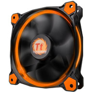 Thermaltake Thermaltake Riing 12 High Static Pressure 120mm Circular LED Case Radiator Cooling Fan CL-F038-PL12OR-A Orange