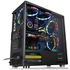 Thermaltake Thermaltake V200 Tempered Glass RGB Edition 12V MB Sync Capable ATX Mid-Tower Case Chassis with 3 120mm 12V RGB Fan + 1 Black 120mm Rear Fan Pre-Installed CA-1K8-00M1WN-01