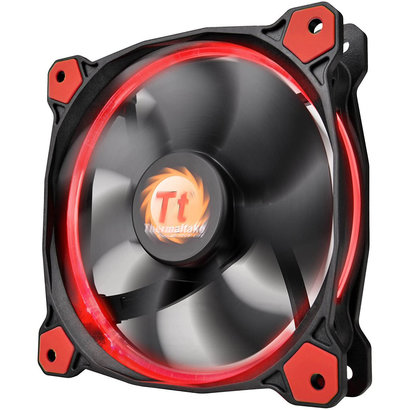 Thermaltake Thermaltake Riing 14 High Static Pressure 140mm Circular LED Ring Case/Radiator Fan with Anti-Vibration Mounting System Cooling CL-F039-PL14RE-A Red