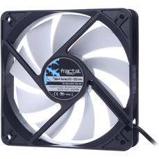 Fractal Design Fractal Design Silent Series R3 White - Silent Computer Fan - Optimized for Quiet Operation - 120 mm - Rotational Speed 1200 RPM - Black Ribbon Cable - Rifle Bearings - 12V - Black/White (Single)