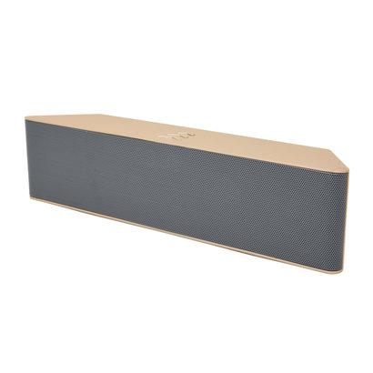 ML-23U 6-Watt Wired/Wireless Bluetooth 3.0 FM Speaker with Mic, Gold