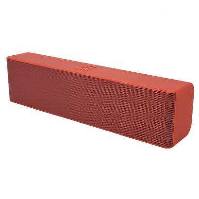 ML-53U 6W Wired/Wireless Bluetooth 3.0 FM Speaker with Mic, Red