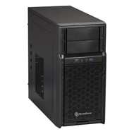 Silverstone SilverStone PS08B Black High-strength plastic and meshed front panel Micro ATX Mid Tower Computer Case