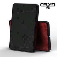"Cryo-PC Cryo-PC USB 3.0 2.5"" Tool Free Enclosure w/LED, Red"