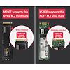 Cryo-PC Cryo-PC USB 3.1 Gen2 10Gbps Type-C M.2 SATA NGFF Tool Free SSD Enclosure, Aluminum