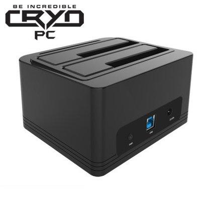 "Cryo-PC Cryo-PC Dual Bay 2.5"" or 3.5"" USB 3.0 Docking Station"