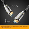 Gigacord Gigacord Fiber Optic HDMI 2.1 Cable 8K-60Hz 4K-120Hz AOC Fiber Cable Support HDCP 2.2, 4:4:4, 48Gbps, HDR 12bit, Metal Connectors (Choose Length)