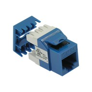Cat.5E RJ45 110 Type 180° Keystone Jack Blue