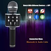 Wireless Bluetooth Karaoke Microphone,3 in 1 Portable Handheld Karaoke Mic Speaker Machine, Black