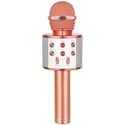 Wireless Bluetooth Karaoke Microphone,3 in 1 Portable Handheld Karaoke Mic Speaker Machine, Pink