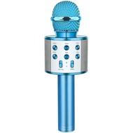 Wireless Bluetooth Karaoke Microphone,3 in 1 Portable Handheld Karaoke Mic Speaker Machine, Blue