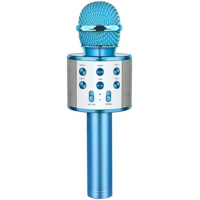 Blue Wireless Microphone Speaker karaoke