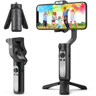 3-Axis Gimbal Stabilizer for Smartphone - 0.5lbs Lightweight Foldable Phone Gimbal w/Auto Inception Dolly-Zoom Time-lapse, Handheld Gimbal for iPhone 11 pro max/11/Xs Max/Samsung - Hohem iSteady X