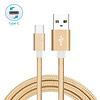 1M USB-C Type-C Braided Charging/Sync Cable, Gold 3Ft