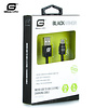Gigacord 3Ft Gigacord BlackARMOR Samsung USB Micro 5-pin Charge/Sync Cable, Black w/Strain Relief, Tapered Aluminum Connector, Lifetime Warranty