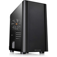 Thermaltake Thermaltake V150 Tempered Glass Micro-ATX Mini Tower Gaming Computer Case with One 120mm Rear Fan Pre-Installed CA-1R1-00S1WN-00