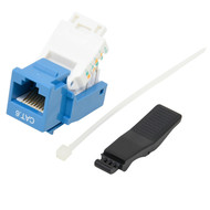 Cat 6 RJ45 Tool Less Keystone Jack Blue