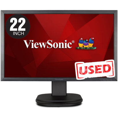 """ViewSonic Viewsonic 22"""" LED LCD Monitor - Adjustable Display Angle - 1920 x 1080 - Full HD - Speakers - DVI,  VGA, Used *Model could vary* Incl Power Cord & VGA Cable"""