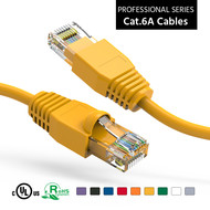 10 Foot Cat6A UTP Ethernet Network Booted Cable 24AWG Pure Copper, Yellow Cat-6A (10Ft.)